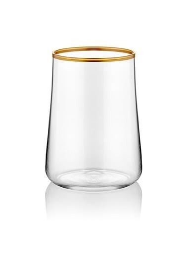 Koleksiyon Aheste Kahve Yanı Bardağı 6'Lı Mat Altın Renkli